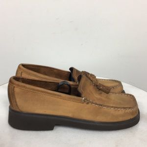 Sperry Suede Leather Loafer Brown Tassel Women 6.5